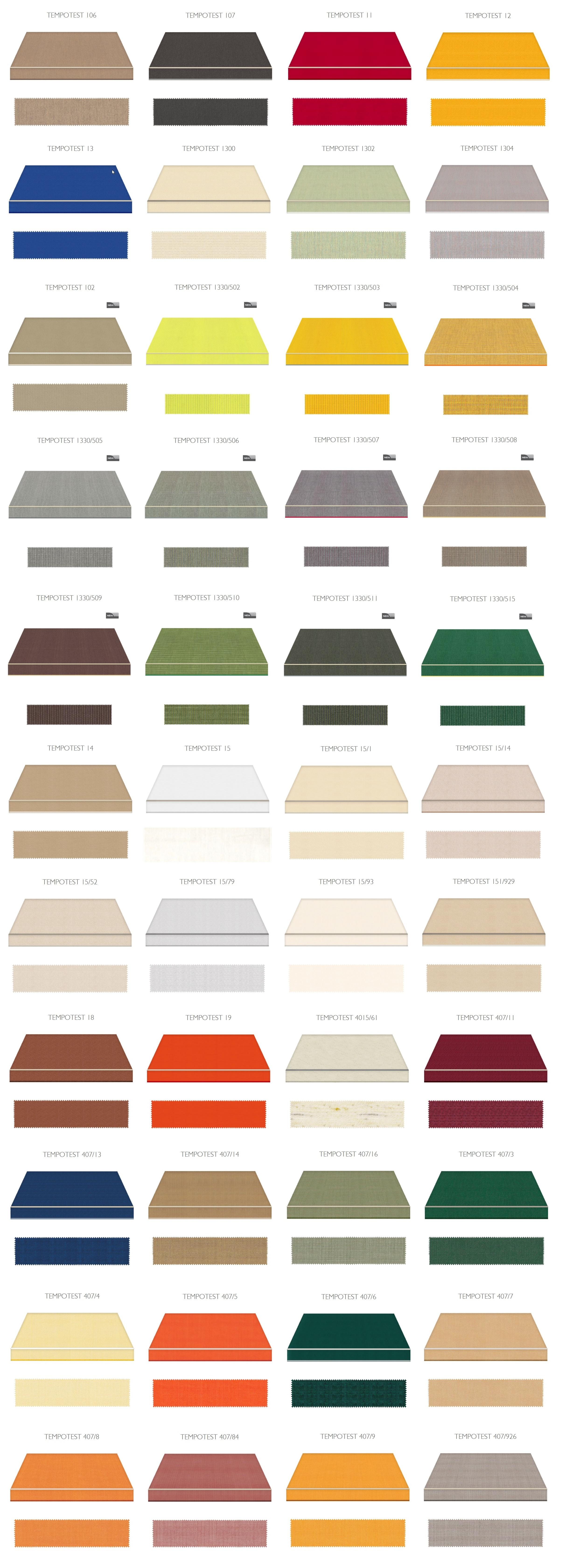 jednobojne boje za tende Adistrum