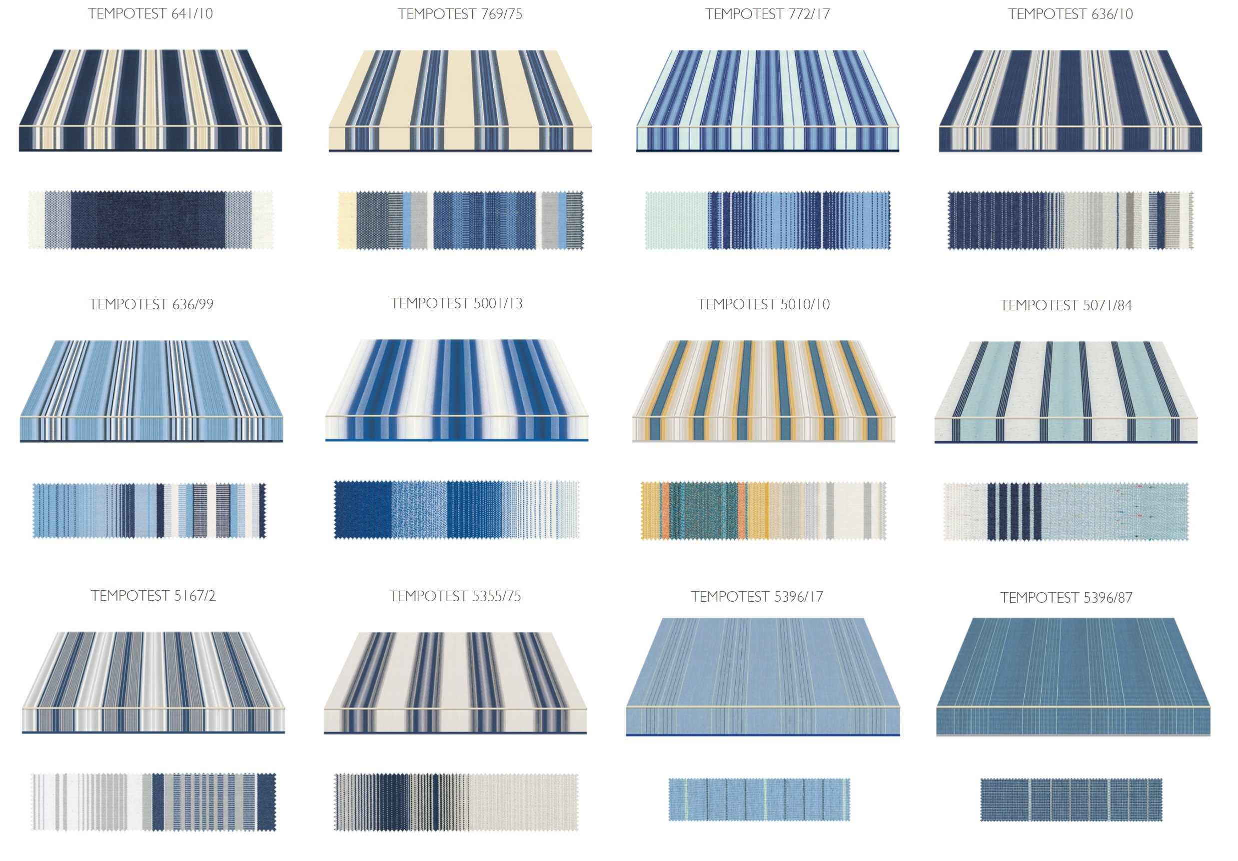 plavi komplet boja za tende Adistrum