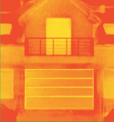 snimka termalnom kamerom 2 garažnih vrata Adistrum
