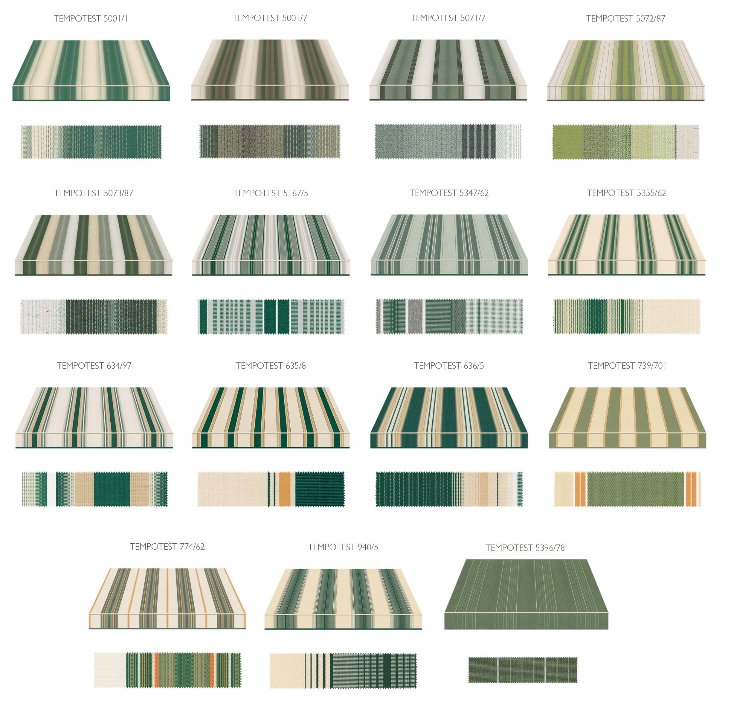 zeleni komplet boja za tende Adistrum